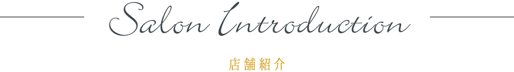 salon introduction 店舗紹介
